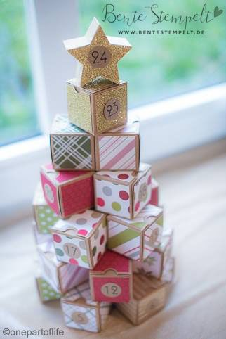 Stampin' Up! Adventskalender Tannenbaum Pyramide