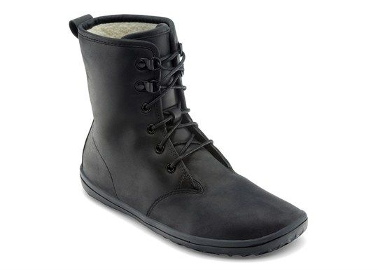 Vivobarefoot Gobi Hi Top black leather boots