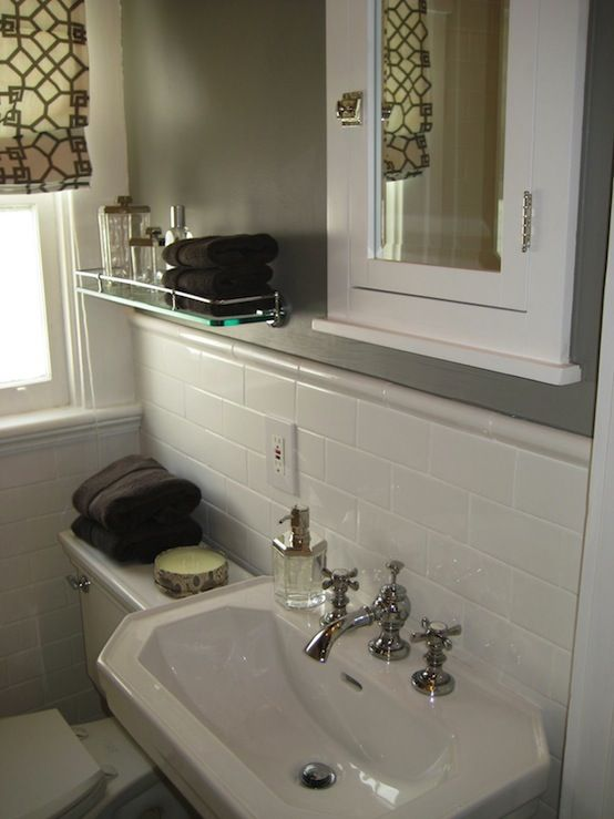 How To Create A Greyscale Bathroom: 315 Best Images About Condo: Small Bathroom On Pinterest