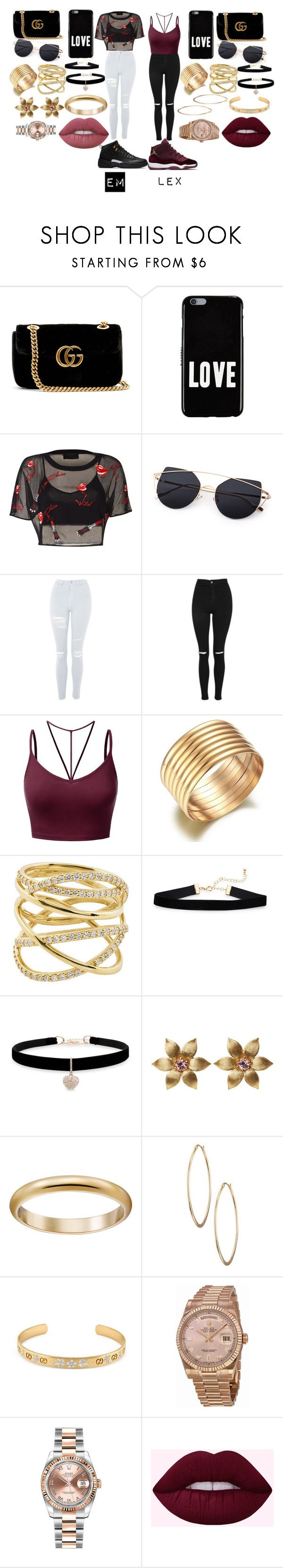 """sister goals pt 4"" by lowkeysavage11 on Polyvore featuring Gucci, Givenchy, Topshop, J.TOMSON, Lana, Betsey Johnson, La Perla, Lydell NYC, Rolex and Lime Crime"