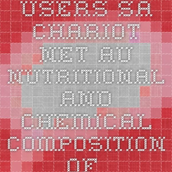 users.sa.chariot.net.au nutritional and chemical composition of milk kefir