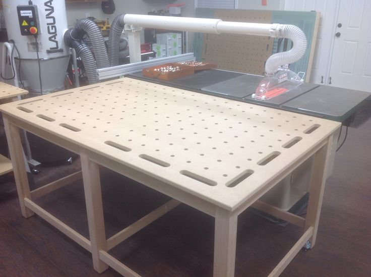 My Mft Outfeed Clamping Table Woodworking Workshop