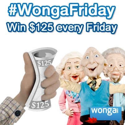 #WongaTGIF - Enter every Friday on Facebook: https://www.facebook.com/wongacanada