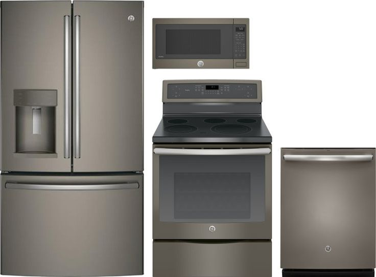 Ge 4 Piece Kitchen Appliances Package With French Door