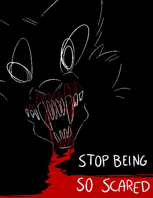 howlsnteeth: @lilsuicidalkitty; A wolf screaming with huge...