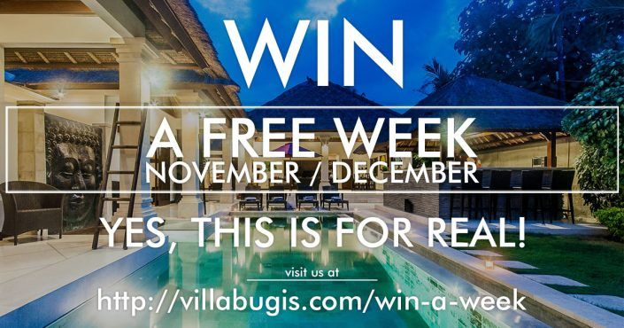 Win a 7 day stay at our amazing 3 bedroom Villa Rama in Seminyak, Bali! All you need to do is visit our website!