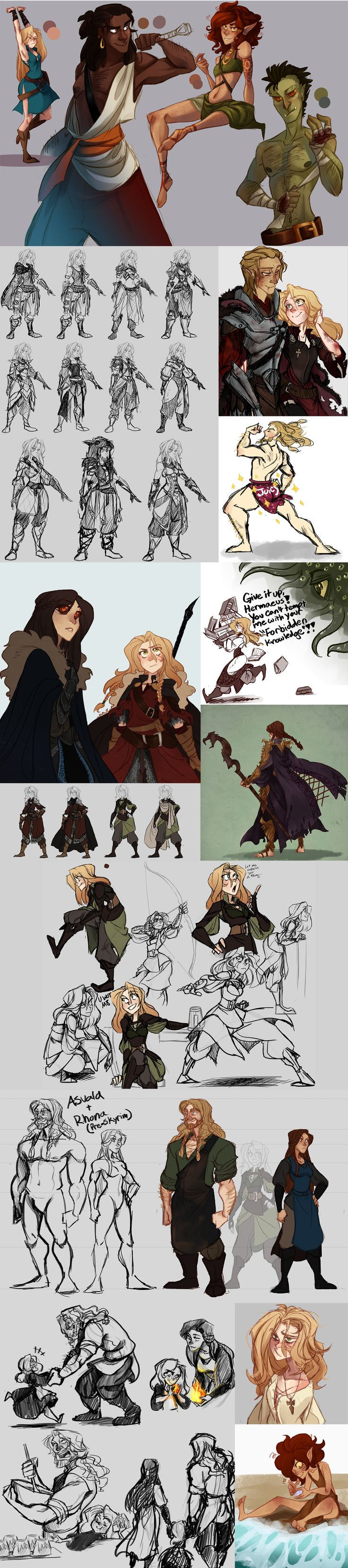 Skyrim Character Design Ideas : Best ideas about sexy drawings on pinterest forms of