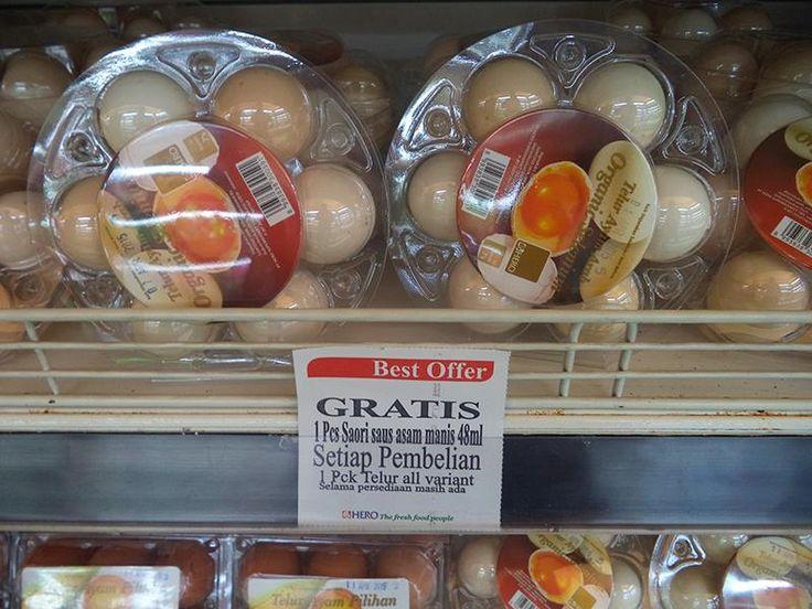 Ada yang spesial di Hero Supermarket, apa itu? Dapatkan GRATIS 1 Pcs Saori 48 ml setiap pembelian 1 pck Telur All Variant  Yuk berbelanja Telur di Hero. Promo Free 1 Pcs Saori Saus Asam Manis 48 ml selama persediaan masih ada. #MyHERO