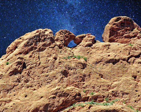 Starry Night At Kissing Camels Garden Of The Gods Colorado