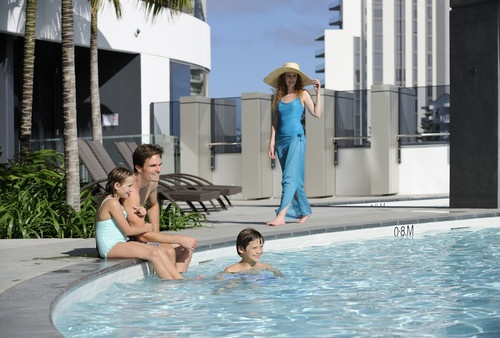 Immerse yourself in the temperate waters of Peppers Broadbeach's outdoor heated resort pool #GoldCoast http://www.peppers.com.au/broadbeach/
