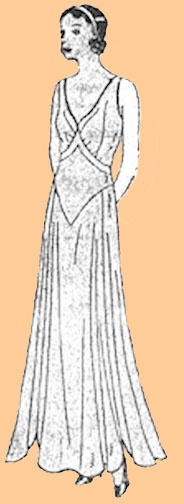 1930 Ladies' Day or Evening Frock