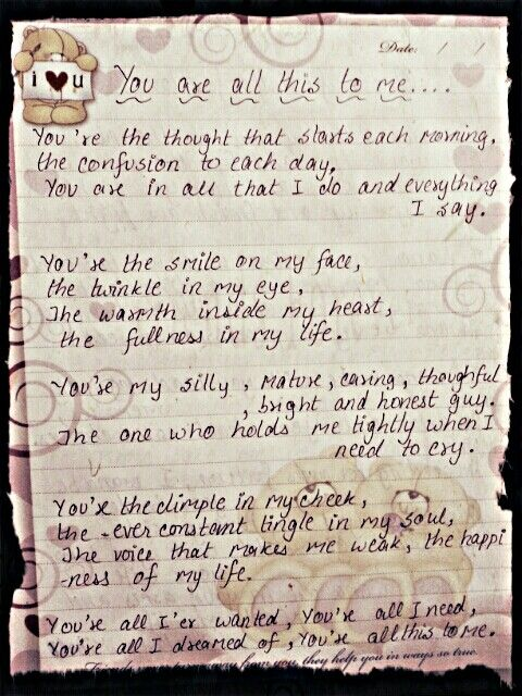 You are all this to me poem composed by me... -Mitali kataria ♥
