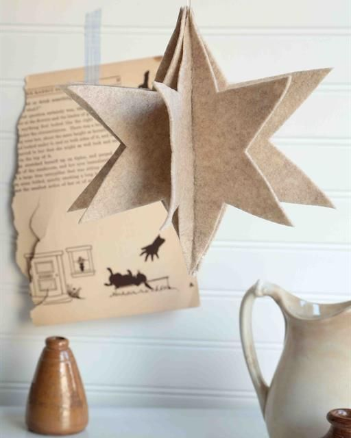 A beautiful star made of felt that will brighten your holiday celebrations!