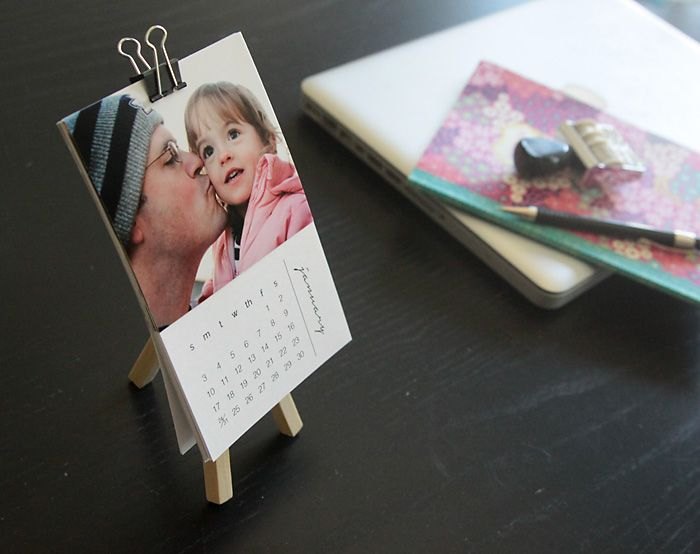 free printable mini photo calendar personalize it with your own photos for an easy