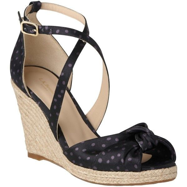 L.K. Bennett Angeline Wedge Heeled Sandals ($145) ❤ liked on Polyvore featuring shoes, sandals, navy satin, wedge sandals, wedge heel sandals, cross strap sandals, navy flat sandals and navy heeled sandals