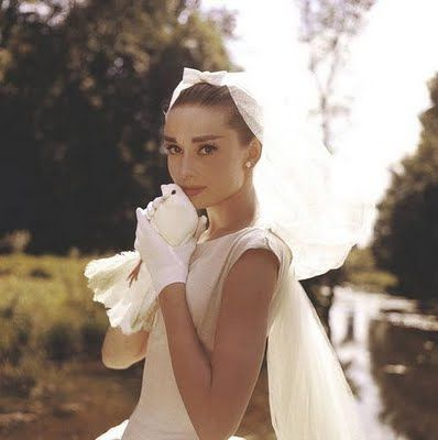 No better inspiration for retro bridal elegance than Audrey