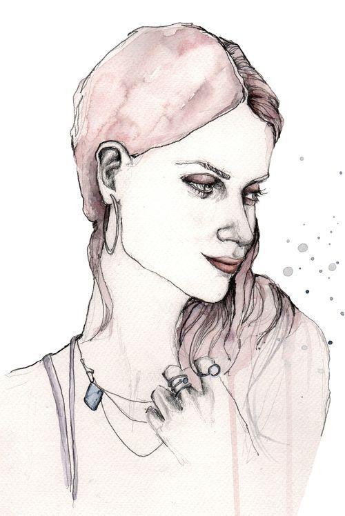 Emma #illustration #painting #watercolor #fashion