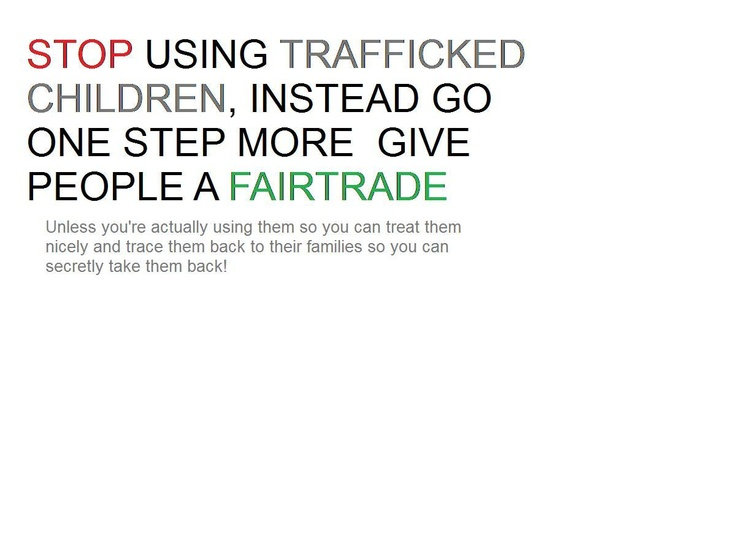 "Ask Kraft ""When will Toblerone be Traffik-Free?"" STOP THE TRAFFIK competition entry by Nathan Ghinn"