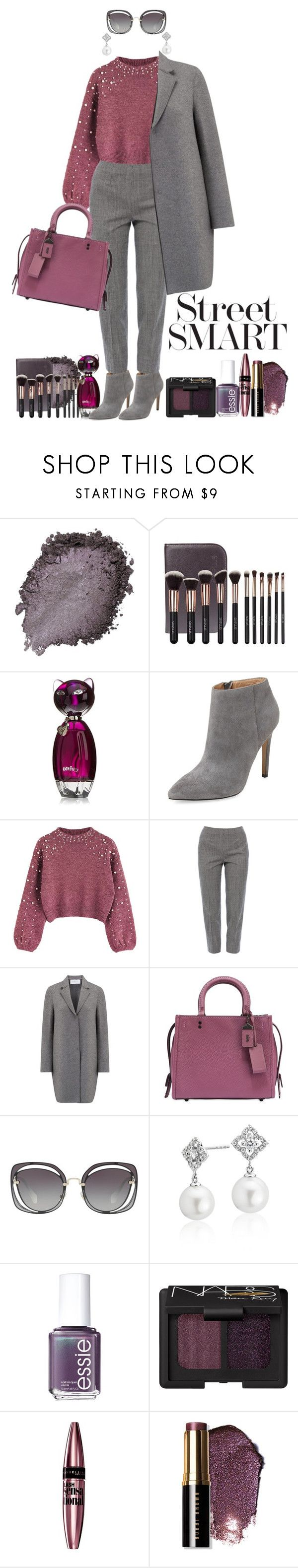 """""""City girl"""" by pelagianath ❤ liked on Polyvore featuring Pure Navy, Piazza Sempione, Harris Wharf London, Coach, Miu Miu, Blue Nile, Essie, NARS Cosmetics, Maybelline and Bobbi Brown Cosmetics"""