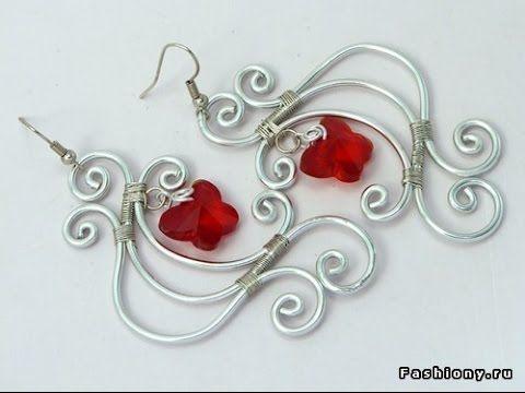 Оригинальные украшения своими руками - серьги и сережки из проволоки