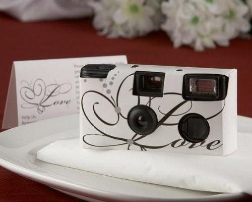 This is a very unique but great and creative gift for your wedding guests and serves a few purposes! No stress about delivering the photos to all your guests after the wedding, they can take their own! It's also better for you because you get a VERY big range of photos taken at your wedding! It's a win win!