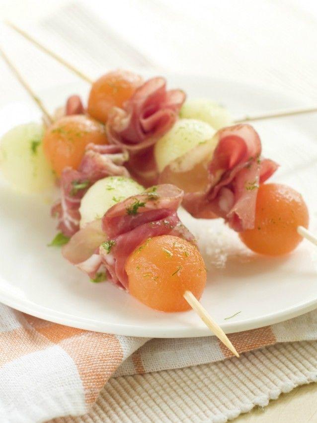 Meloen met rauwe ham variaties. Lekker als hapje of voor in de lunchtrommel.