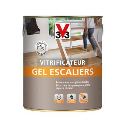 Vitrificateur Gel Escalier V33 Incolore Satin 2 5l En 2020 V33 Castorama Et Nettoyage
