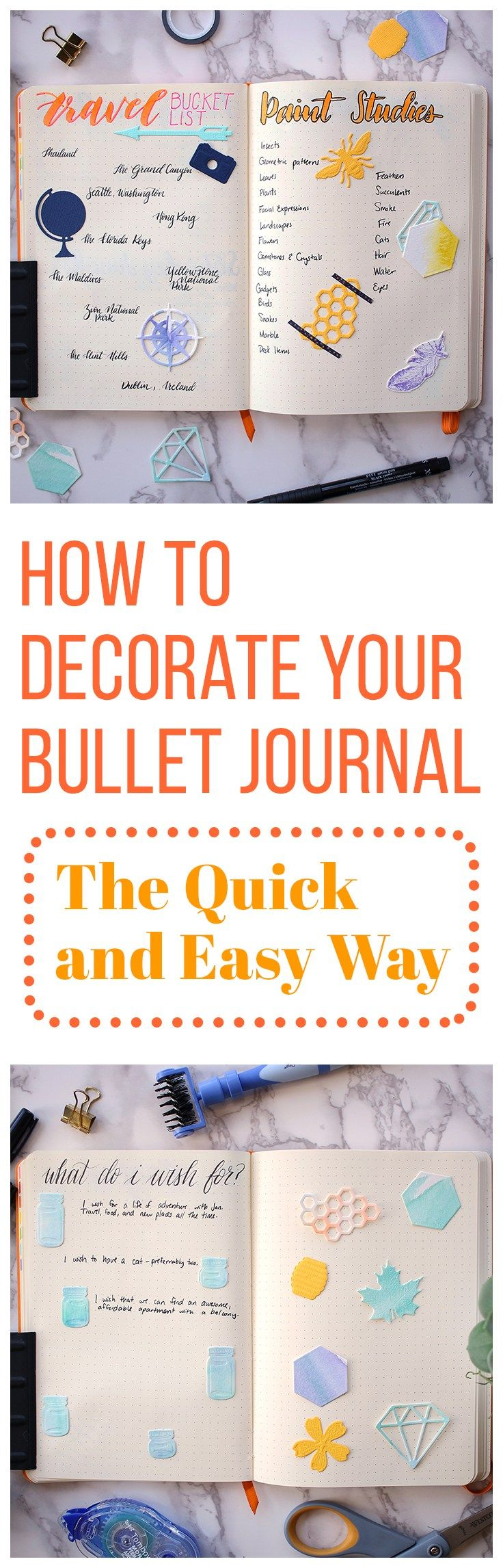 When you're short on time, it can be hard to justify sitting down with your bullet journal for hours to make it look good. And if you aren't super artistic, it can be even more frustrating. Thankfully, there is a way to get the best of both worlds! If you're wondering how to decorate your bullet journal quick, then this little tool is for you.