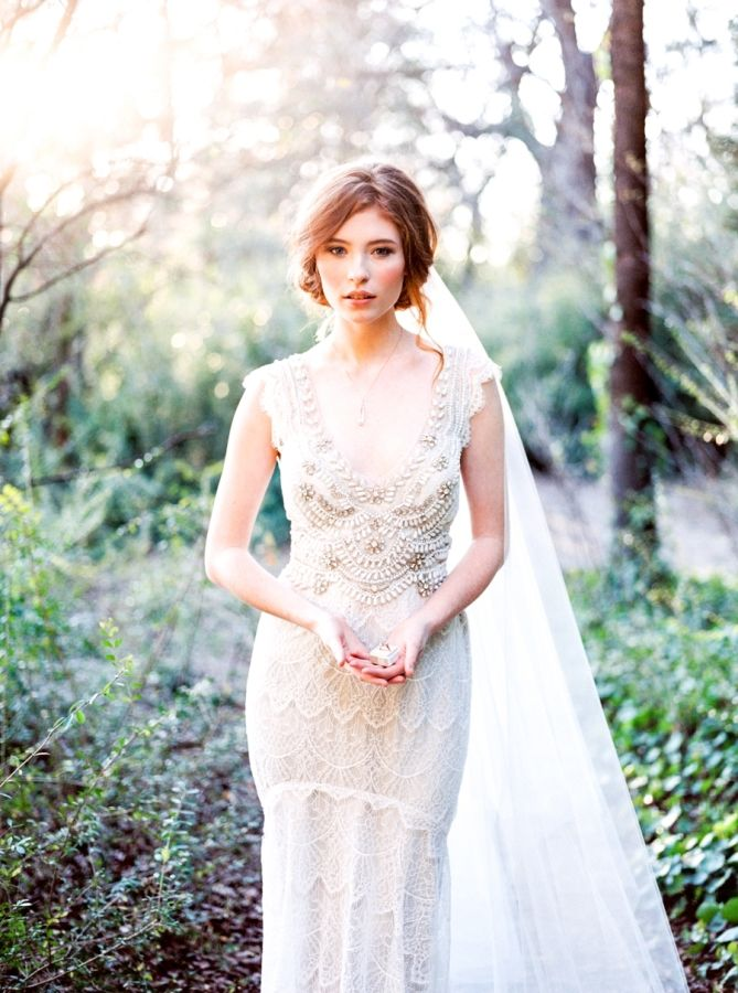 33 best anna campbell wedding dresses images on Pinterest | Short ...