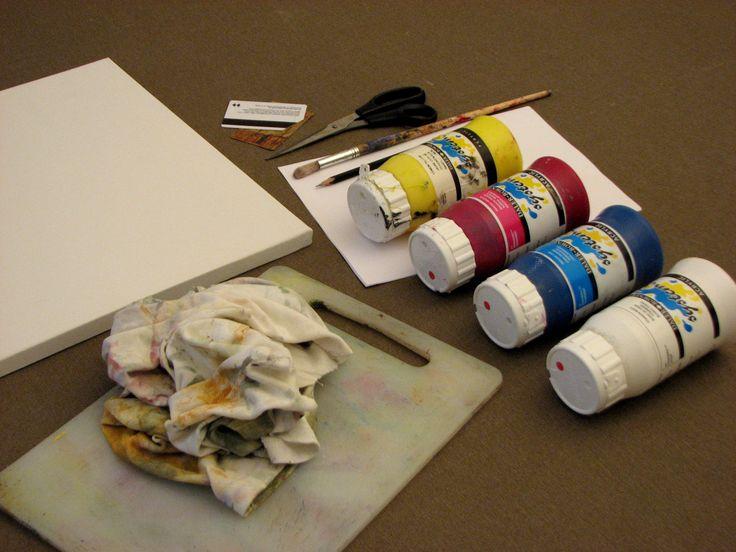 wepaint.dk kursus viser dig altid hvilke farver og materialer du skal bruge!