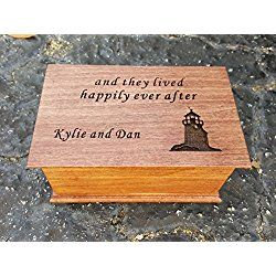 jewelry box, music box, custom made music box, handmade jewelry box, gift for Bride, Happily Ever After, personalized gift, wooden anniversary gift, anniversary gift, wedding gift, simplycoolgifts
