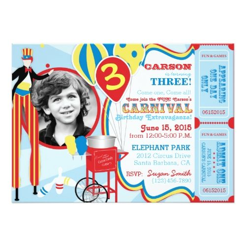 Best Candy Birthday Invitations Images On Pinterest Birthday - Birthday invitation cards circus