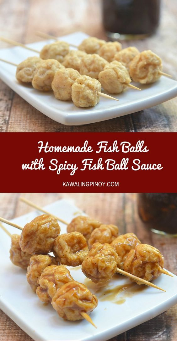 Soft and bouncy, these Homemade Fish Balls with Spicy Fish Ball Sauce are popular Filipino street food. Fish balls can also be used in soups, stir-fry noodles and so much more.