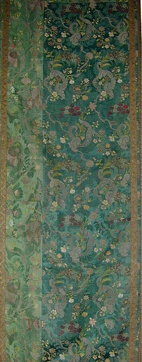 18th Century French Silk Brocade