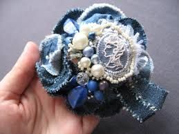 джинсовые цветы