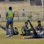 Players at Cricket Training Camp in Gaddafi Stadium, Pakistan