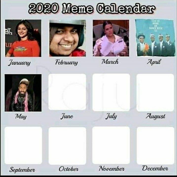 2020 Calendar Meme Calendar Fun Quotes Funny Crazy Funny Memes
