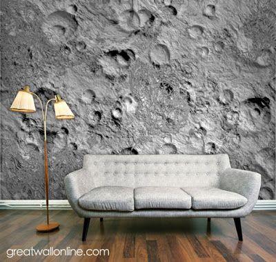 Custom Wallpaper Inspiration: Custom Wall Mural Inspiration: Lunar Surface Part 48