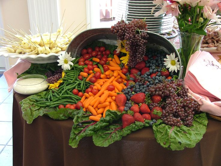Waterfall Fruit And Veggie Displays: Veggie/Fruit Tray Display Ideas