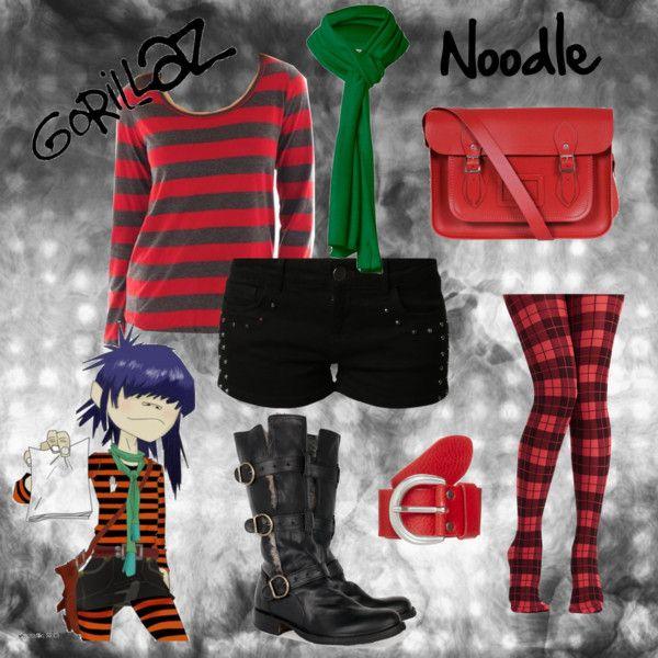 """Gorillaz   Noodle"" by cutiepie312 on Polyvore"