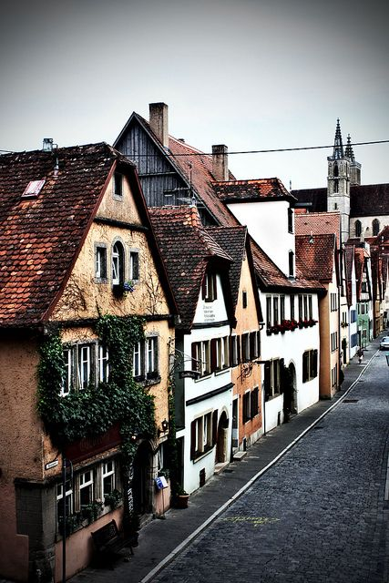 Rothenburg, Germany.....Another pinner wrote: It's my favorite town in Germany. Many hours have been spent walking those cobbled streets and enjoying the beauty ........