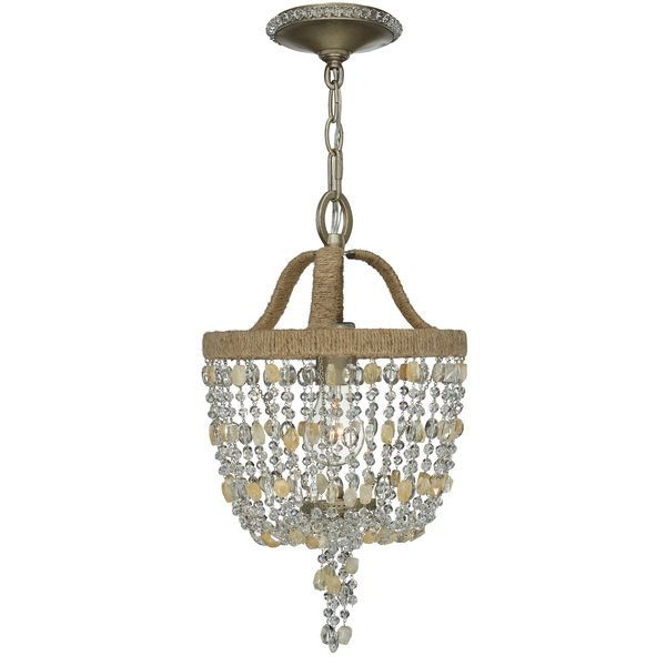 crystorama 263bs eva 1 light crystal mini chandelier crystorama lighting