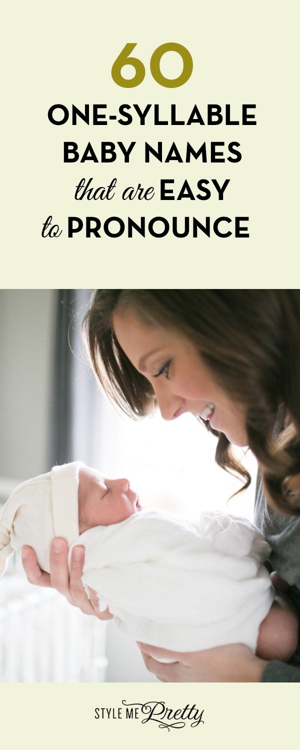 60 One-Syllable Baby Names that are Easy to Pronounce