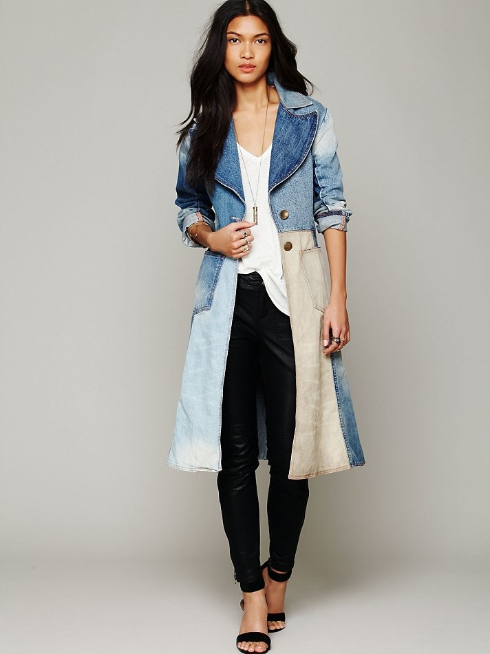 17 Best ideas about Denim Trench Coat on Pinterest | Denim outfit ...
