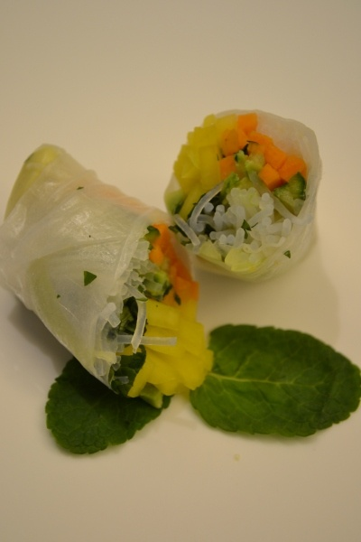 Vietnamese Summer Roll, You could use Lettuce instead of rice noodles and Brown Rice Paper Wraps also.