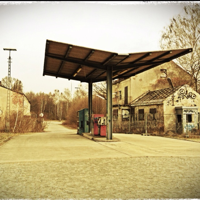 Old Gas Station Drawing 100 best images...