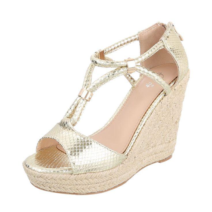 16,99 € - Keilabsatz Damen Sandaletten | Ital Design Shop