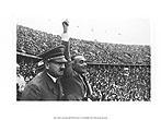 Berlin 1936 - The chancellor Adolf Hitler and Hans von Tschammer Und Osten, Sports Minister
