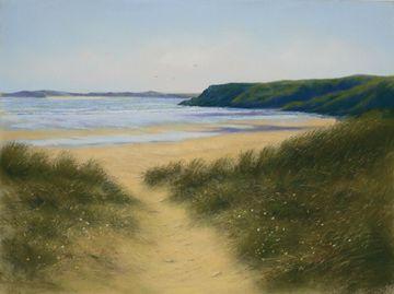 """""""Beach Path, Tenby"""" (Annabel Greenhalgh)"""