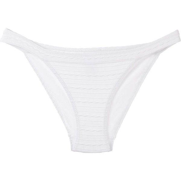 Heidi Klein High Leg Bikini Bottom ($111) ❤ liked on Polyvore featuring swimwear, bikinis, bikini bottoms, white, white bikini, bottom bikini, swim bikini bottoms, white swimwear and white bikini bottoms